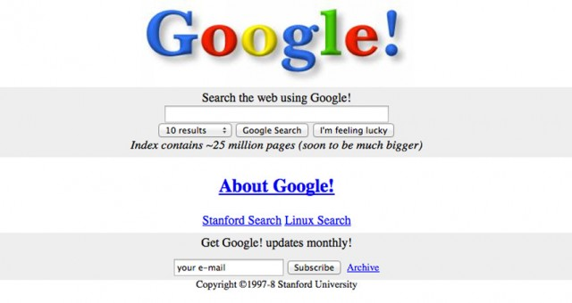 Websites van vroeger
